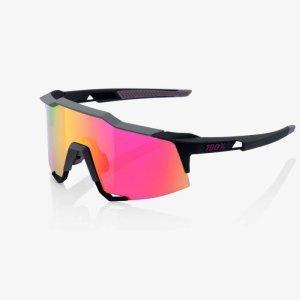 Велоочки 100% Speedcraft Soft Tact Graphite / Purple Multilayer Mirror, 61001-150-72