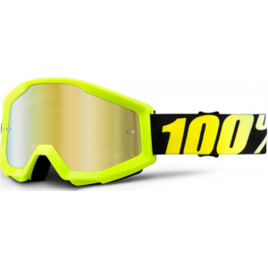 Веломаски 100% Strata Neon Yellow / Mirror Gold Lens, 50410-004-02