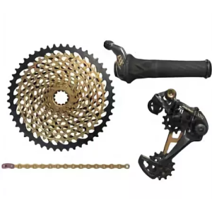 "Велосипедный группсэт ""SRAM"" XX1 Eagle Kit 1x12-speed, Grip Shift, gold. XX1EagleGripShiftgold"