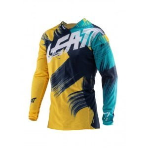 Велоджерси Leatt GPX 4.5 Lite Jersey Gold/Teal 2019