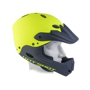 Шлем велосипедный Hot Shot INMOLD, Freeride/DH, FullFace, ABS-HARD SHELL, 17отверстий, 191 Yell-Neon/Blk
